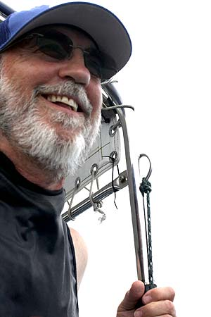 pat scannon happy after a find in palau