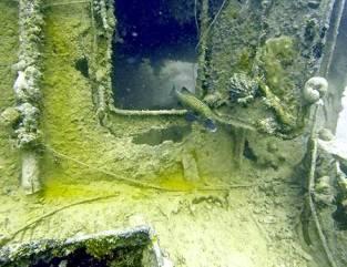 sunken wwii vessel, palau