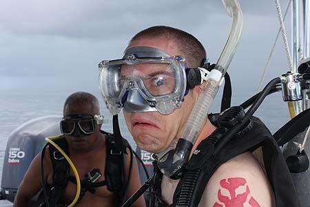scared diver