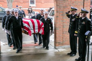 """Navy Honor Guard Bringing Bud home during the TheRepatriation of Albert P. """"Bud"""" Rybarczyk, MIAs come home- Photo By Harry Parker Photography"""