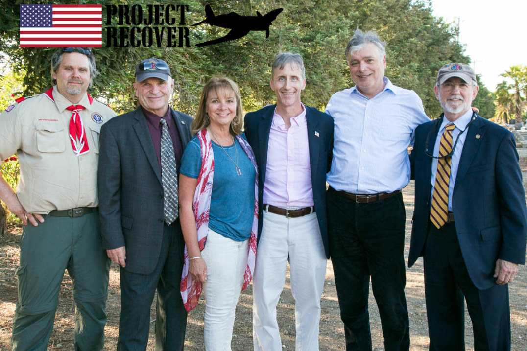 Kelly Family with BentProp at Memorial Day Service For Lt. Thomas Kelly. Photo by Harry Parker Photography