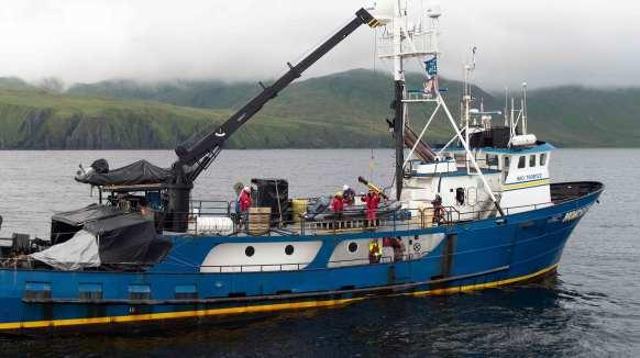 UUV launch from the Norseman II near Kiska, Alaska