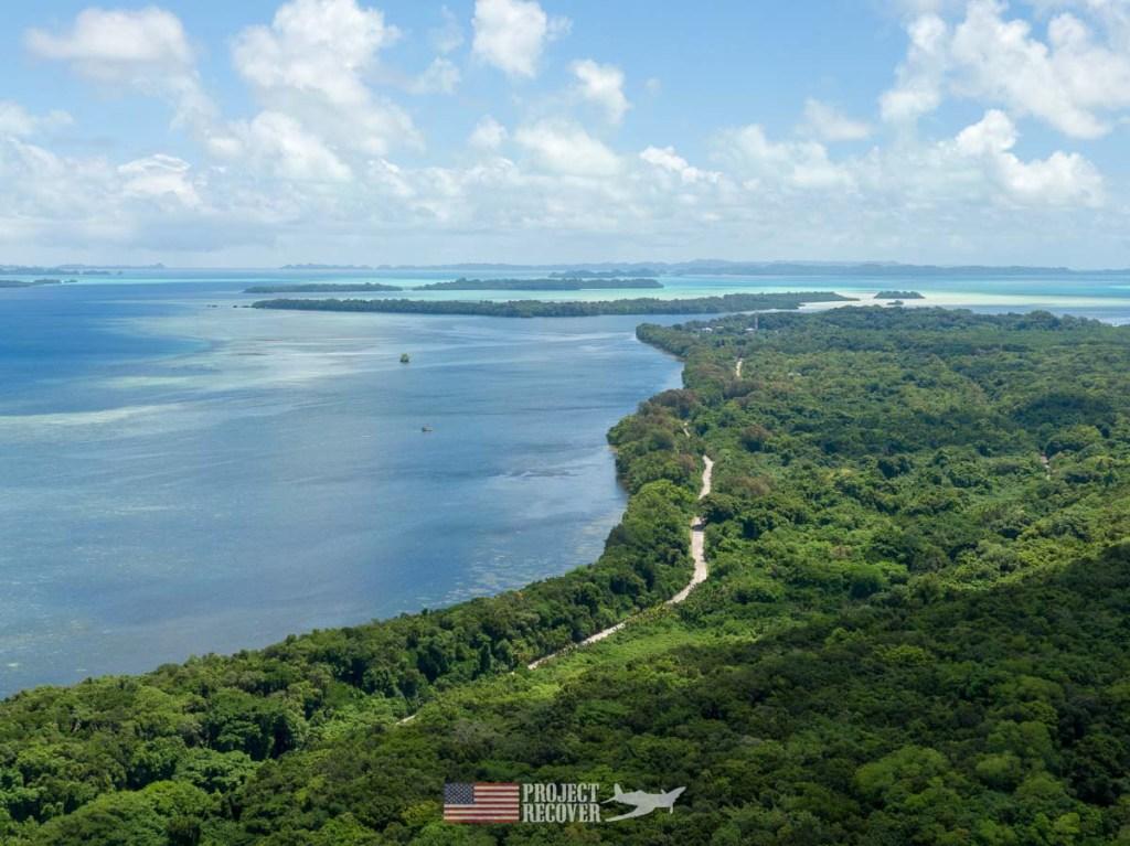 Aerial view of Peleliu Island, Palau