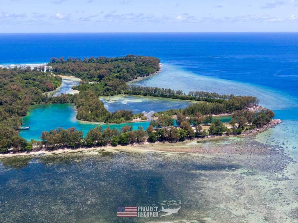 Aerial view Peleliu Island, Palau