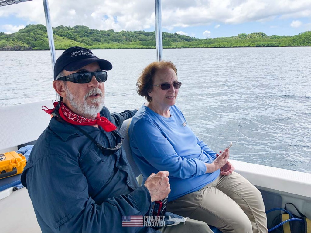 Pat Scannon with Cindy Gray (MIA Family) in Palau. Photo by Harry Parker Photography.com