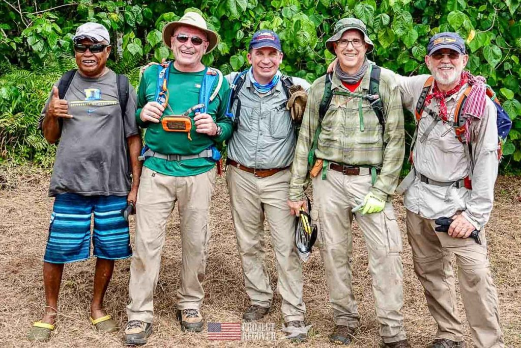 group after hiking palau jungle