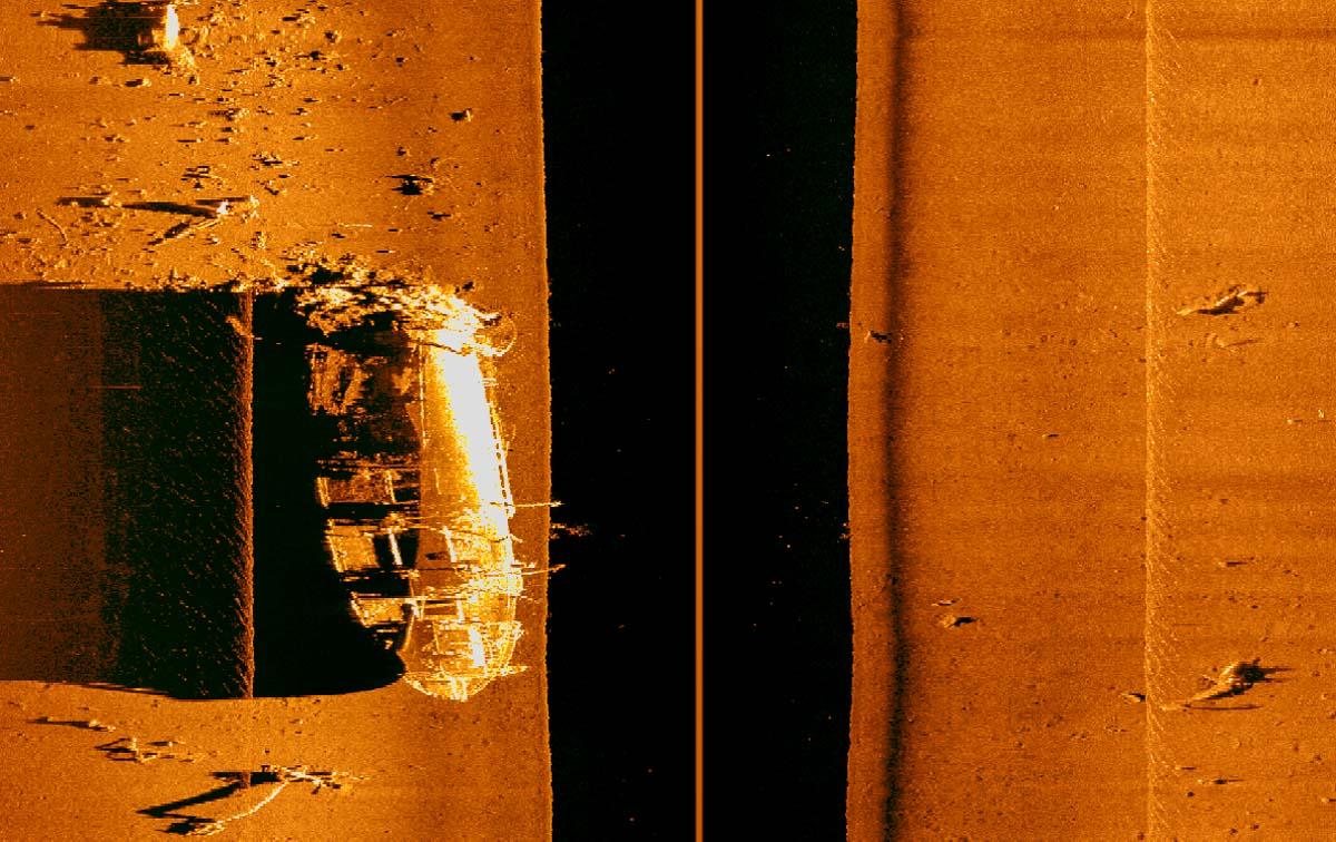 side scan image of Japanese Merchant Chip Aikoko Maru