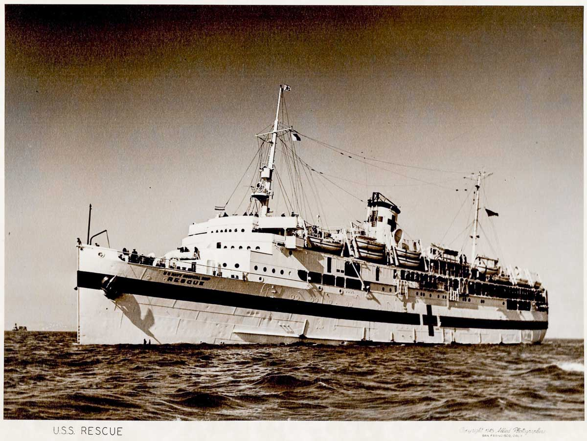 the USNHS Rescue hospitial ship of WWII