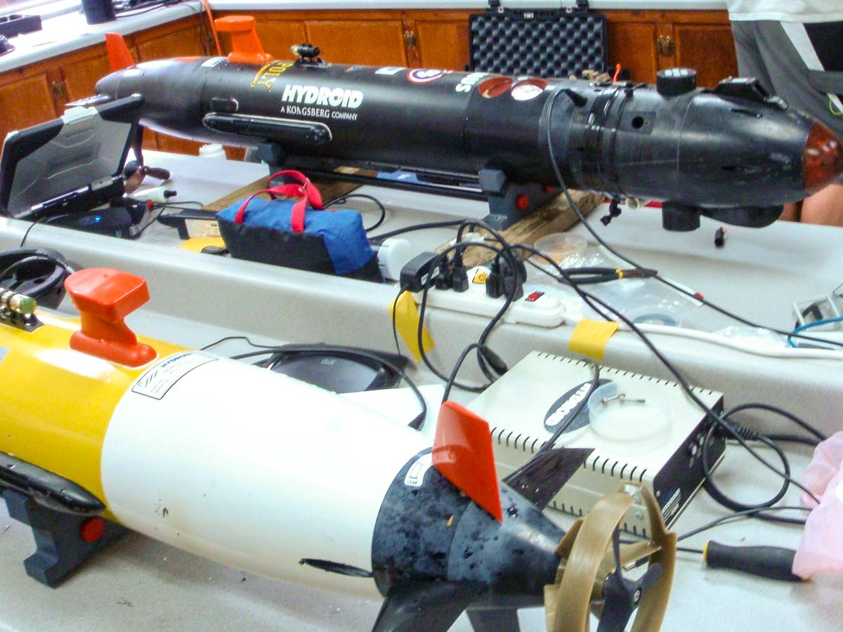 AUV's in the shop on table