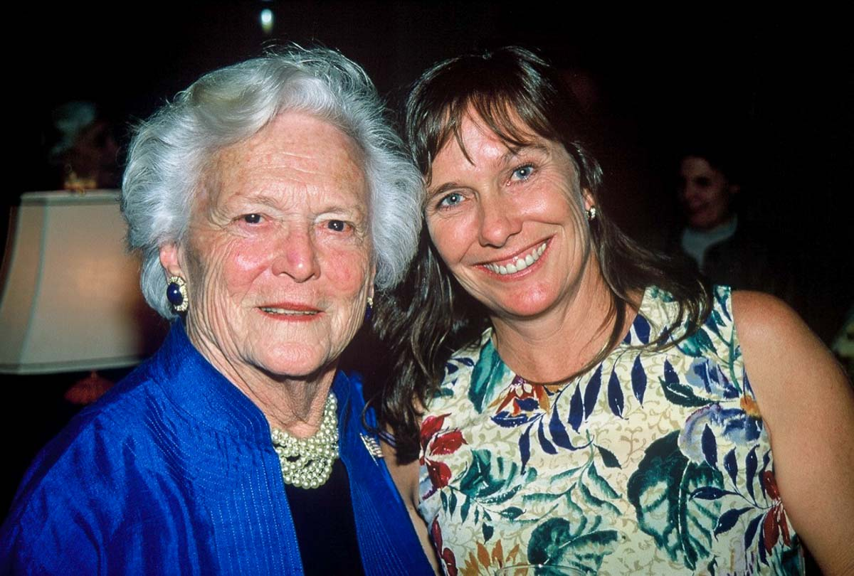 Val Thal-Slocum and Barbara Bush