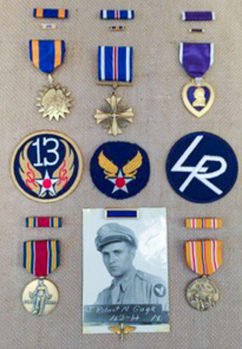 1st Lt. Robert N. Gage's medals