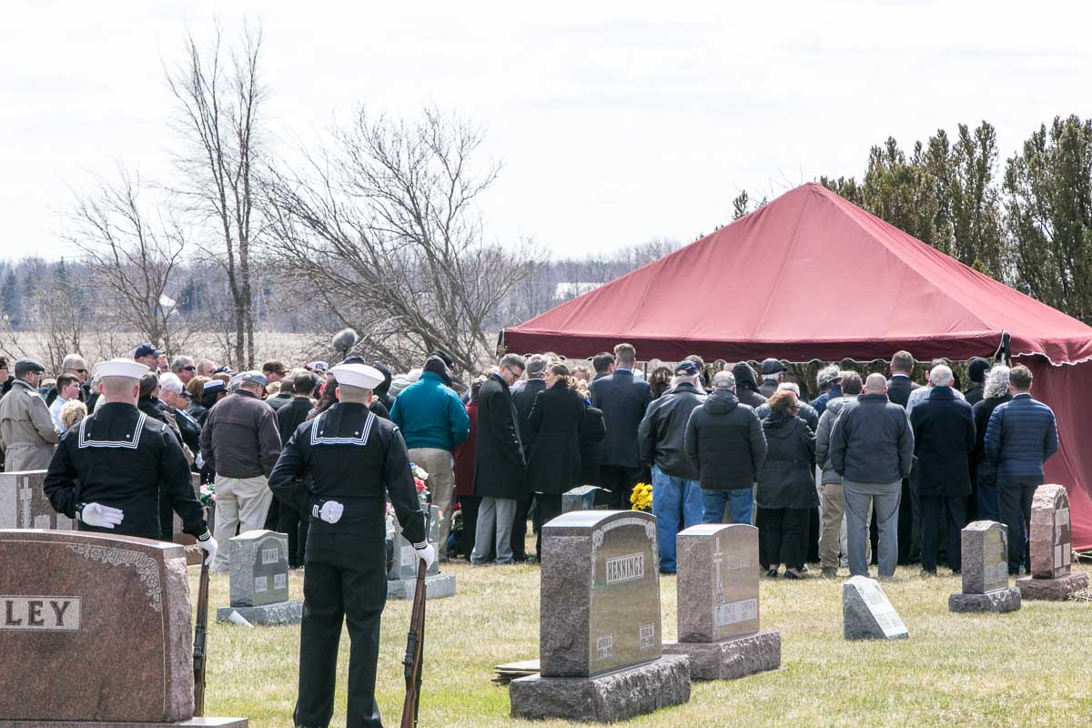 Families Gather by Ora's final resting place