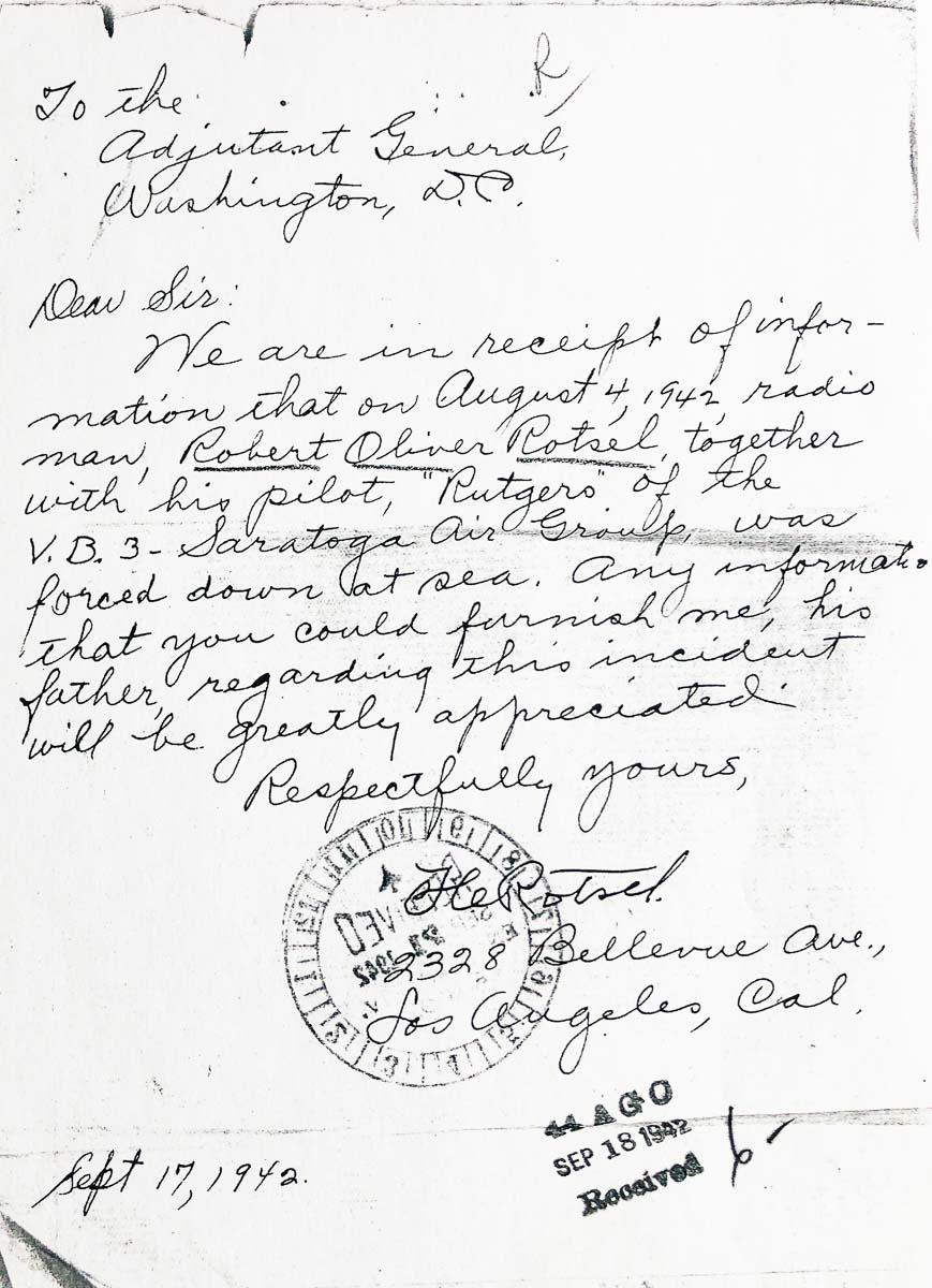 letter from Mr. Rotsel
