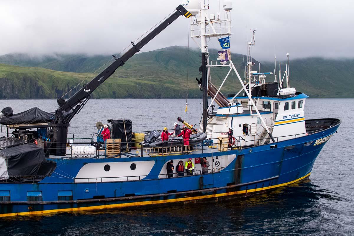 Launching an AUV from the Norseman II, Kiska, AK