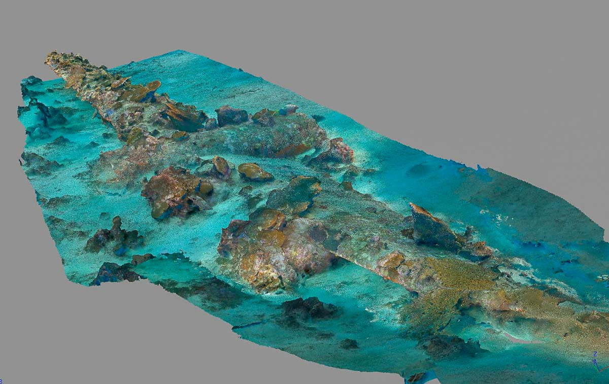 Orthomosaic B24, Soloman Islands - The Science Behind the Search for MIAs