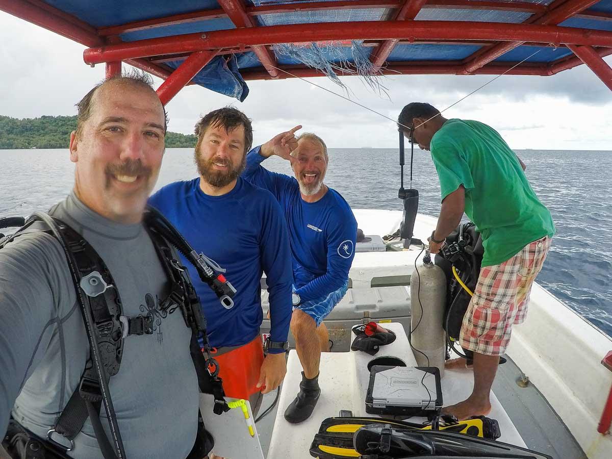 UDel Preparing for Dive in Chuuk FSM
