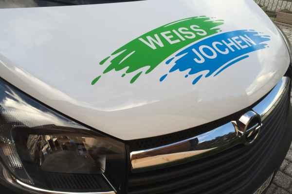 KFZ-Beschriftung Weiss Jochen