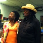 Gwen Patton and Theresa El-Amin at Gwen's birthday celebration (The Know Bookstore, Durham, NC)