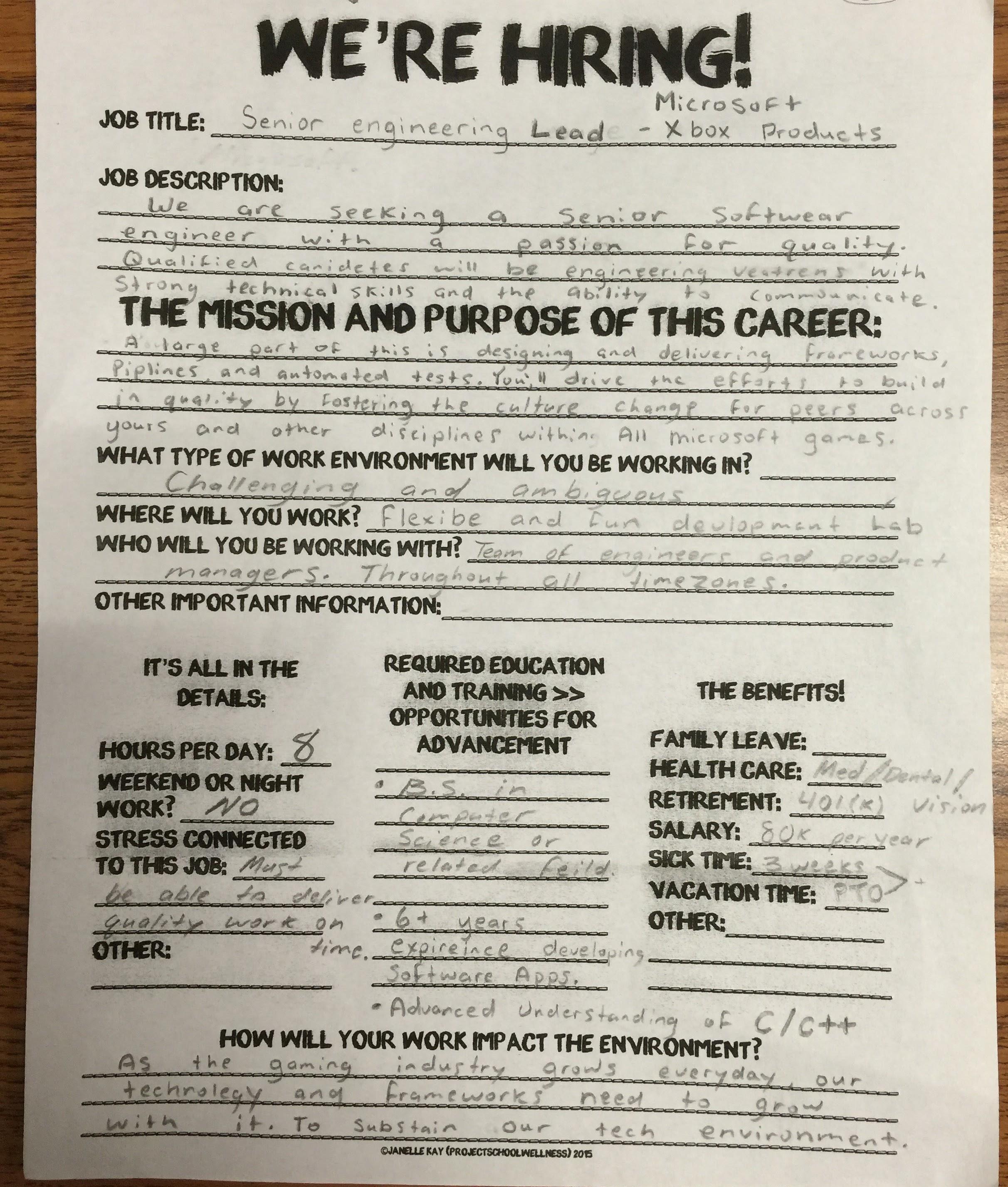 Career Exploration Lesson Plans