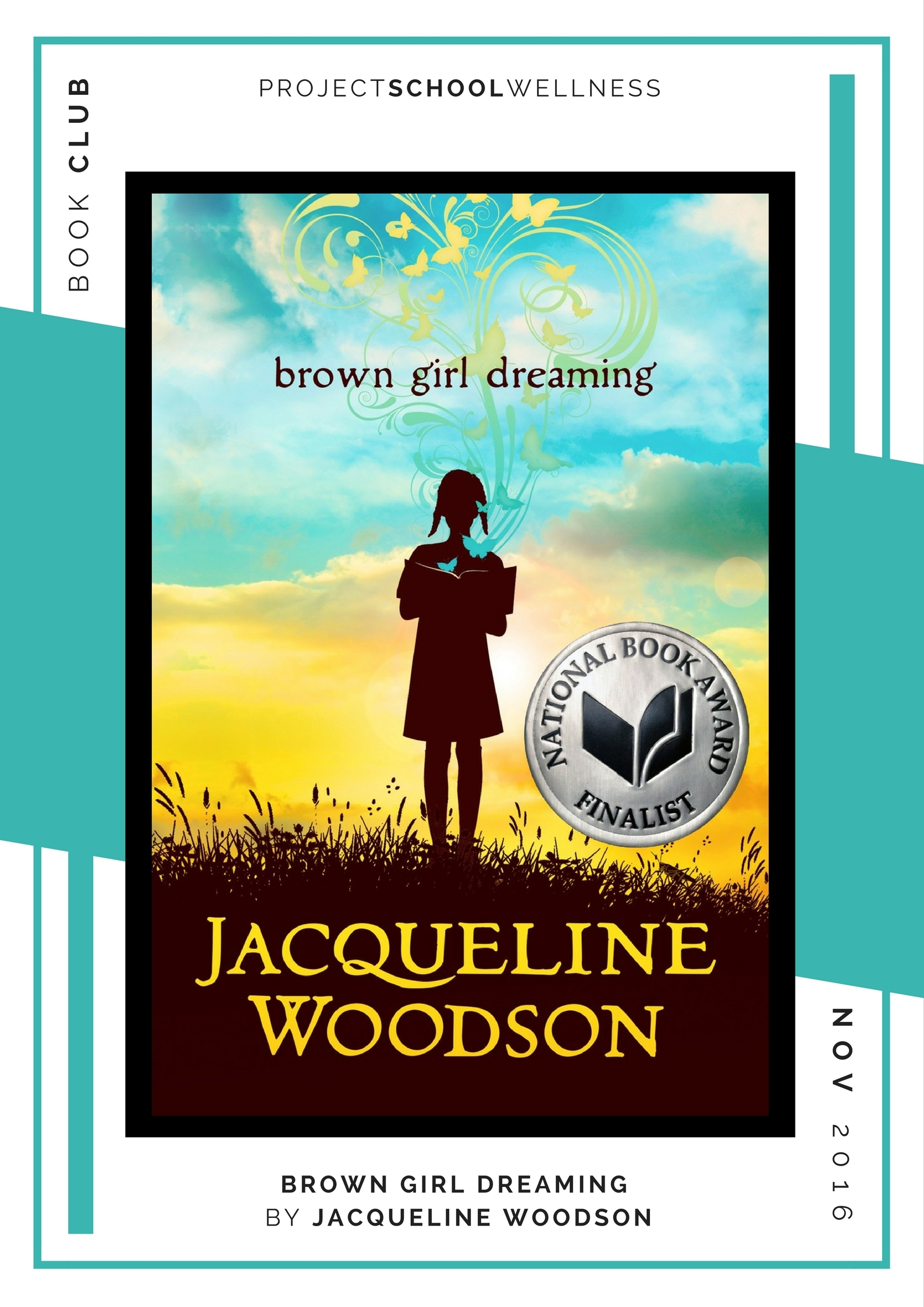 Jacqueline Woodson, Brown Girl Dreaming - Project School Wellness' Teacher Book Club, must read books for every teacher!
