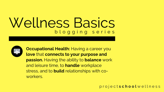 How to plan for career success in your classroom! What every teacher needs to know about Occupational Health - Wellness Basics by Project School Wellness