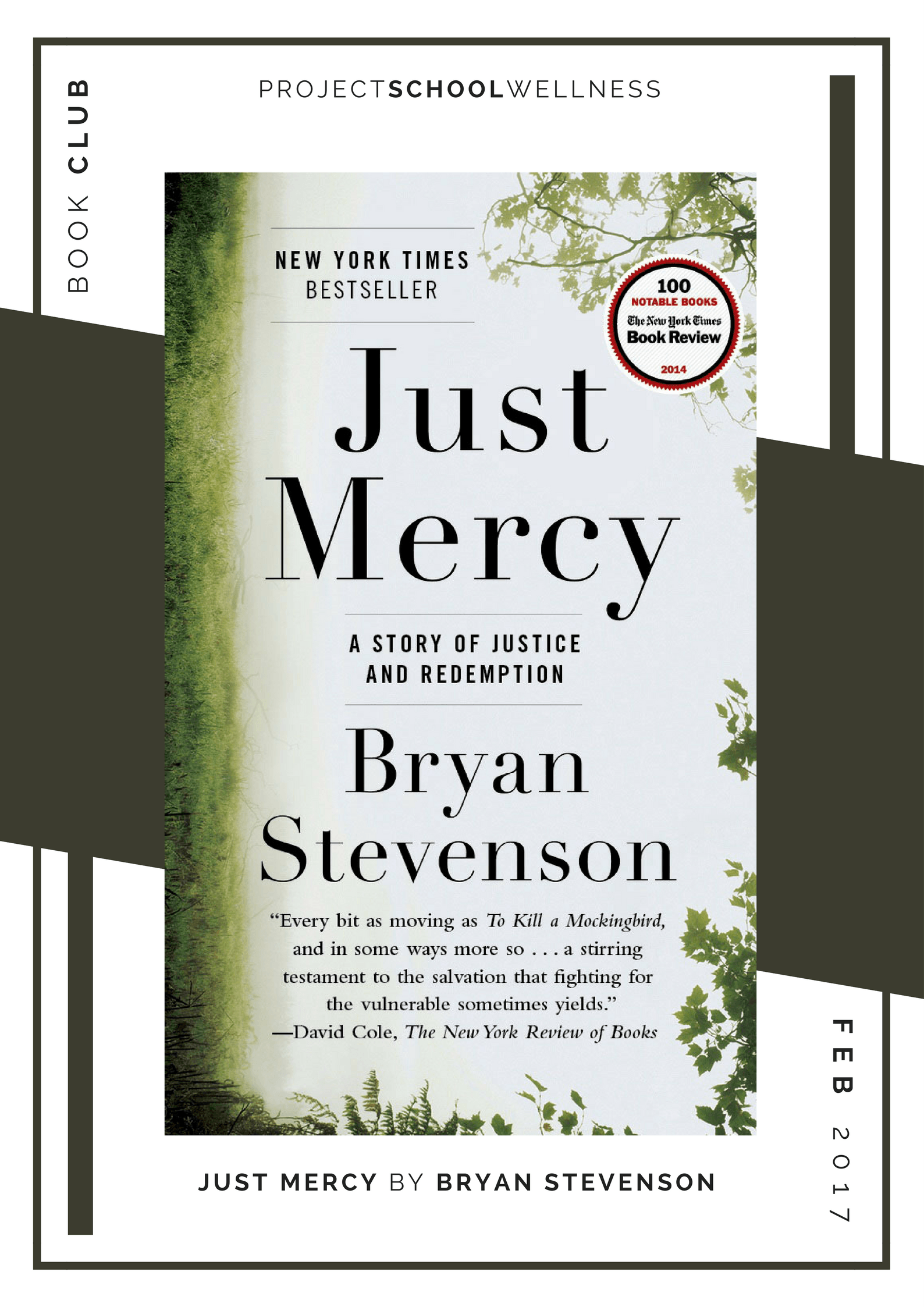 Project School Wellness book club. A list of must read books for teachers and parents! Each month Janelle from Project School Wellness her most current reads. Take a look at the criminal justice system with Bryan Stevenson's book, Just Mercy.