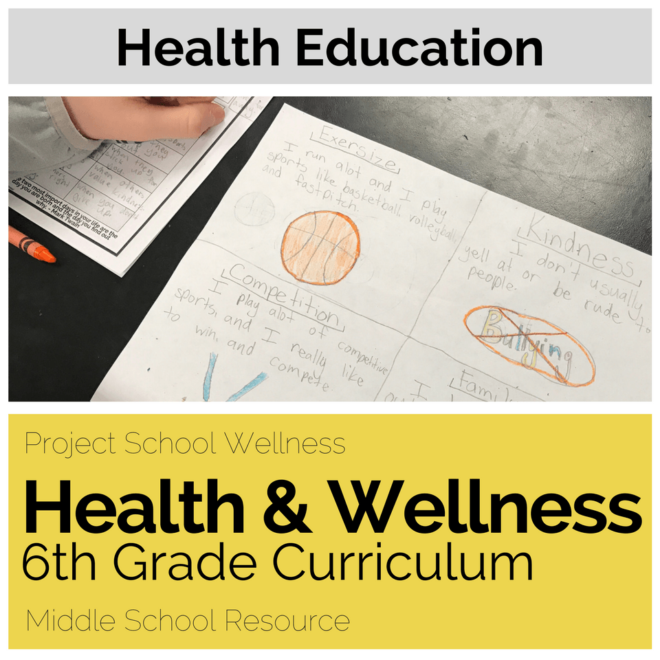 Middle School Health Lesson Plans Project School Wellness Curriculum – Healthy Living Lesson Plans For Middle School