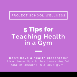 5 Tips for Teaching Health in a Gym - How to teach meaningful lesson in a loud gymnasium. Janelle from Project School Wellness, maker of lesson plans that change lives, share five ways to teach meaningful lesson in a gym. A must read blog post for every PE teacher!
