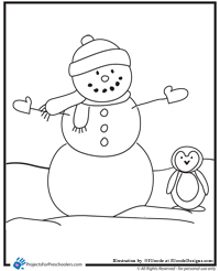 Monster image regarding snowman printable coloring pages