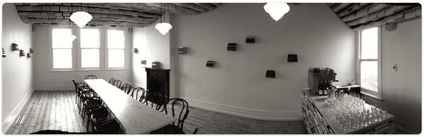 Reading room café photo. Guerrilla agile training space.