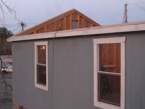 Look! Ready for the roof! - Our Classic Manor New Day Cabin - Project Small House