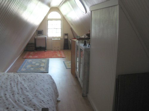 Project: Turning the Attic into a Playroom - The little attic playroom is like a little play house now.