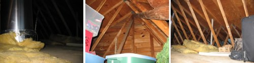 Project: Turning the Attic into a Playroom - Before: Completely unfinished attic