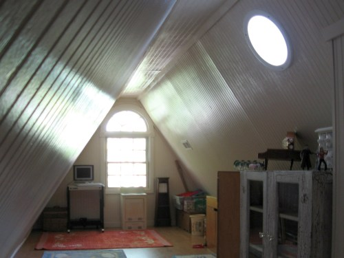 Project: Turning the Attic into a Playroom - My brother was able to get me this great window! There are two sun tunnels.