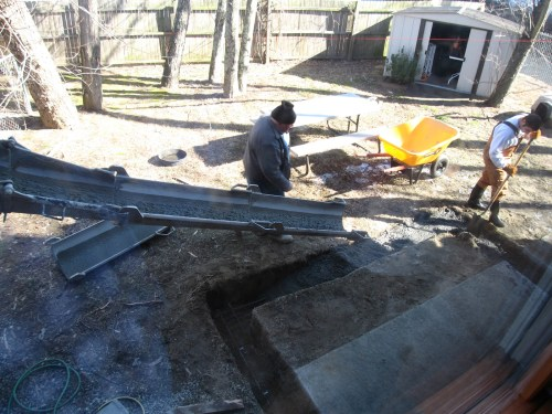 Project: Adding Closets to the log cabin - Pouring the Footers