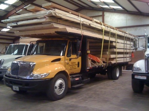 Connor Construction kits are delivered by flatbed trailer or factory owned trucks.