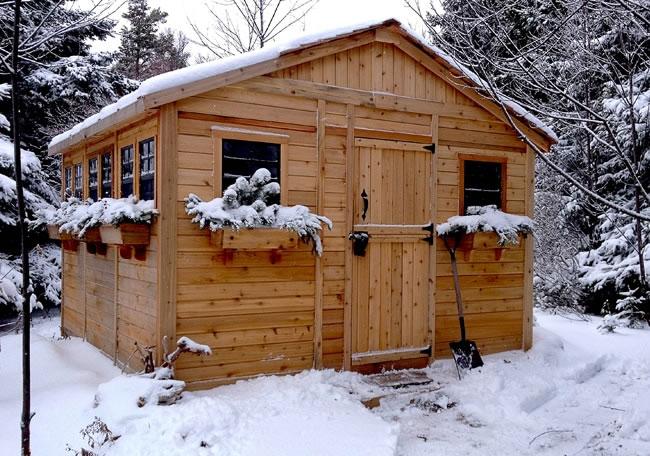 The Sunshed Western Red Cedar Shed Kit