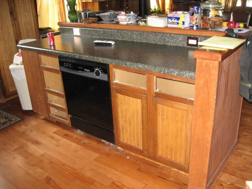 Project: Kitchen Before & After - The Island as a Work In Progress