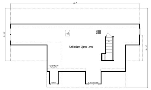Unfinished Upstairs, the Cape in the Maiden 2 - The Maiden II Floor Plans - Modular Homes: The Maiden II at Premier Homes of the Carolinas – Project Small House