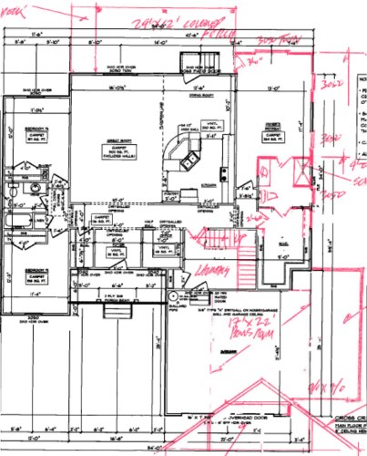Edited Cross Creek floor plan, from Schumacher Homes