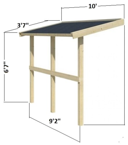 Palmako Canopy Roof Extension Kit