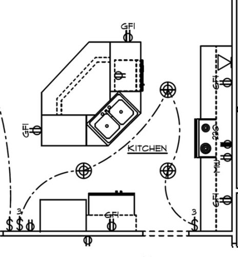Schumacher Homes Cross Creek Kitchen Lighting Plan