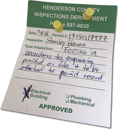 Whoo Hooo! We passed inspection! Finally!!!