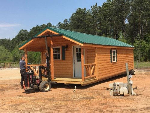 Modular Log Cabin - Set up on your land. 12' x 24' Modular Log Cabin for under $10,000 - Project Small House