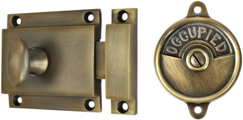 ZLW-DK291 Antique Brass Finish Sargent Privacy Latch - Project Small House