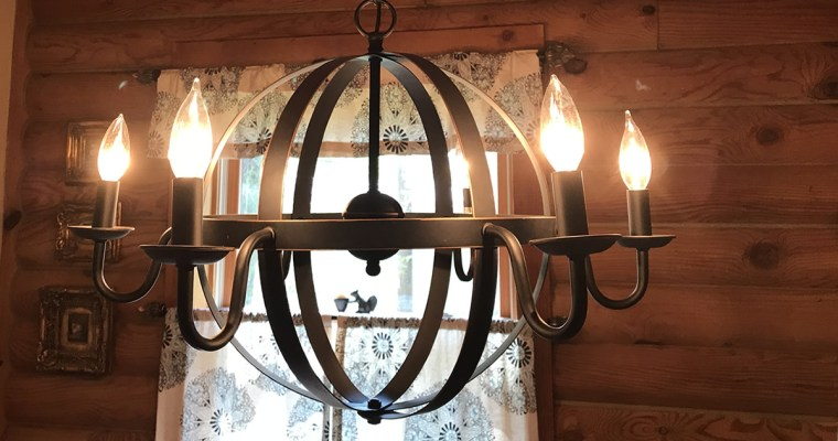 New Chandelier for the Cabin