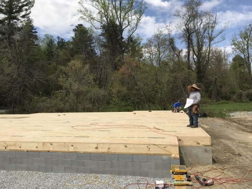 The floor is down! - Building our Schumacher Home