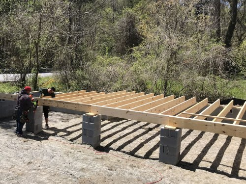 Floor joists - Building our Schumacher Home