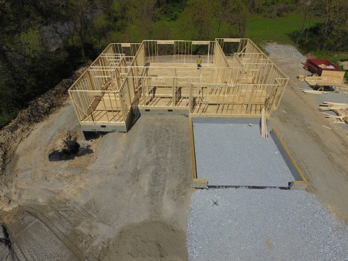 They filled the garage with gravel before the walls were framed. – Building our Schumacher Home – Project Small House