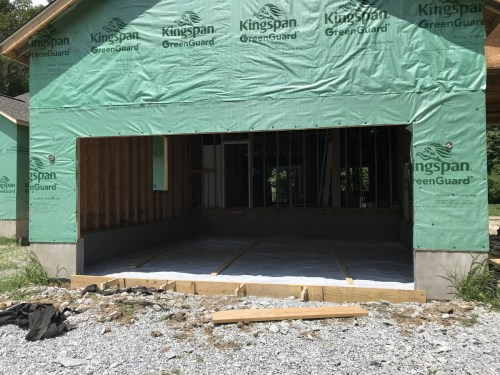 Vapor barrier in garage - Preparing to Pour the Concrete Garage Floor – Project Small House
